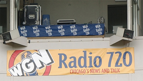 Cubs Radio Broadcast Booth